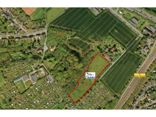 NABU-Fläche in Haarzopf, Luftbild @ Google Maps NABU-Fläche in Haarzopf, Luftbild @ Google Maps