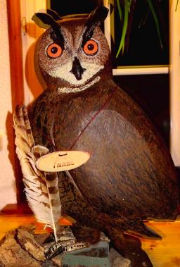 Uhu (Jahresvogel 2005) v. Helmut Schulte; Foto © R. Plath