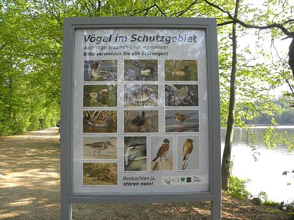 Infotafel Vogelschutzgebiet Foto © U. Eitner