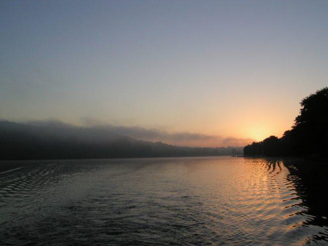 Sonnenaufgang am Baldeneysee, Foto © U. Eitner