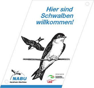 """Grafik """"Schwalbenfreundliches Haus"""" © NABU.NRW"""