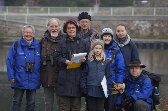 Die Mülheimer Vogelzählungs-Crew im Januar 2015 , Foto © Jürgen Pern