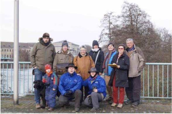 Die Mülheimer Vogelzählungs-Crew im Januar 2015 , Foto © NABU/ Jürgen Pern