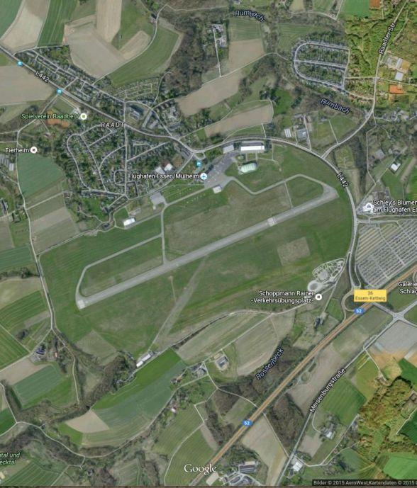 Luftbild Flughafen E/MH © 2015 AeroWest_Kartendaten