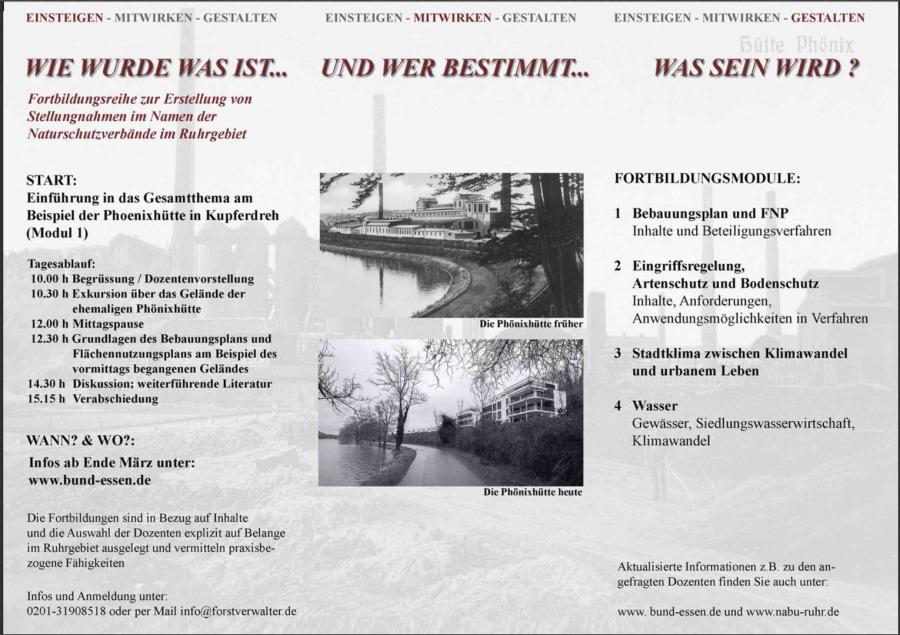Naturschutzbund Ruhr E V Stellungnahmen