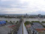 Köln, Dom, Blick vom Vierungsturm auf Chorkreuz und Hohenzollernbrücke und den Osten Kölns, Foto © U. Eitner